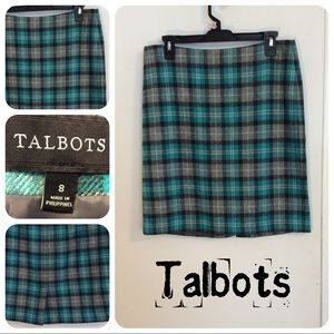 Talbots Plaid Flannel Skirt